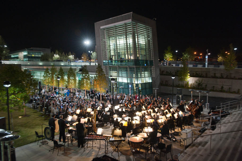 Night music at the TR campus