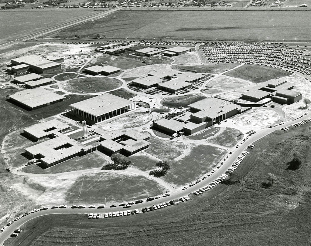 South campus, probably fall of 1967