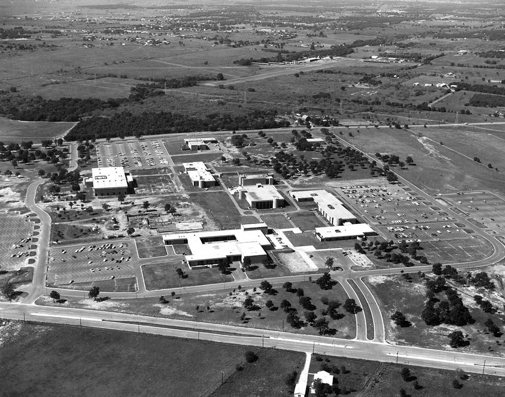 Aerial shot of the construction of the Northeast campus