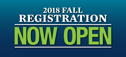 Fall 2018 Open Registration