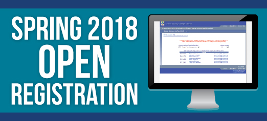 Spring 2018 Open Registration
