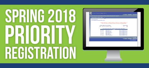 Priority Registration Spring 2018