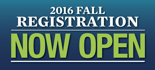 2016 Fall Registration Now Open