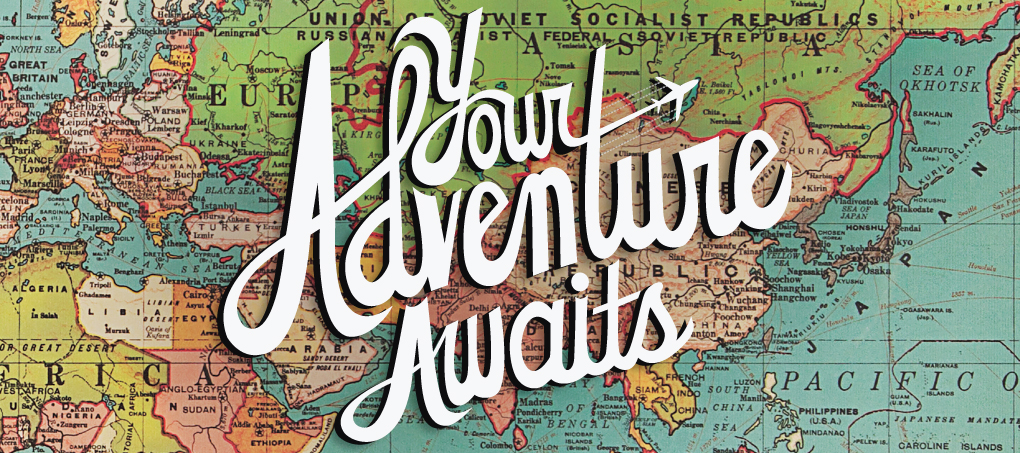 TCC Reach Volume 1, Issue 2 Online Edition - Image is of an old-fashioned map with the words 'Your Adventure Awaits' printed on top of it
