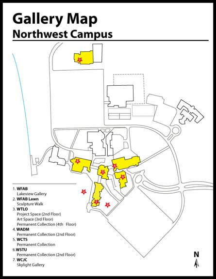 Gallery Map for Northwest Campus