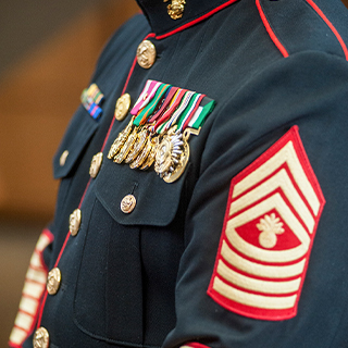 Stripes on Marine's uniform